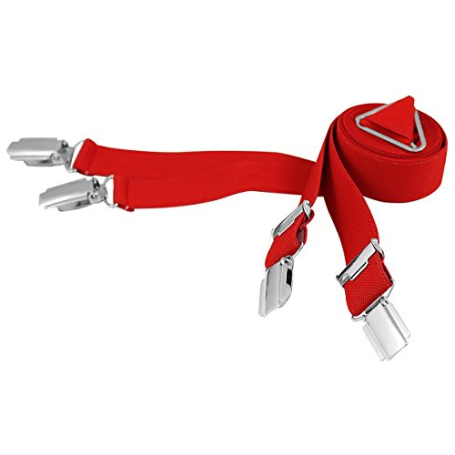 Lindenmann Mens Braces/Suspenders/mens suspenders, X-shape, 25 mm stetch, XXL, red, 9155-004, Größe/Size:110