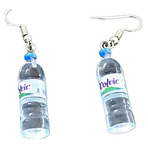 PPX 1 Par Pendientes Largos, Botella de agua bohemia colgante pendientes de agua joyería de resina Pendientes Mujer Charm (azul)