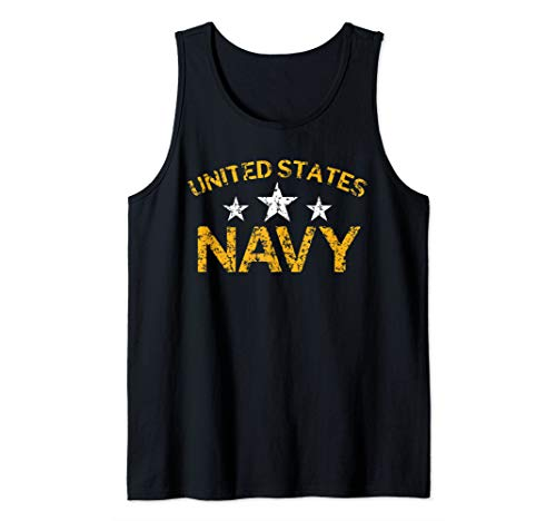United States Navy Faded Grunge Tank Top