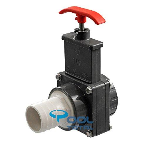 Praher | Peraqua Absperrschieber PVC, d 38 mm / 1,5 Zoll (38 mm) Innengewinde - für Pools, Sandfilteranlagen, Teich, etc.