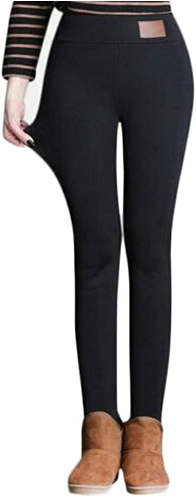 DIIIBARLORY Winter Tight Warm Thick Cashmere Pants - Women's Ultra Soft Thermal Underwear Pants Thermal Full Length Leggings