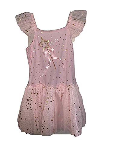 Biscotti Girls' Dress, Pink with Gold Star Accents, Size 7