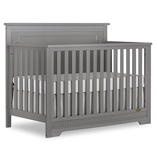 Dream On Me Morgan 5 in 1 Convertible Crib, Storm Grey