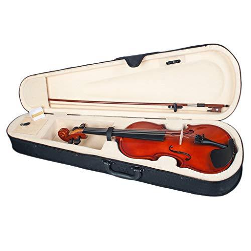 kesoto 1/8 Violín de Niños Cuerpo de Madera deTilo Instrumento Musical Regalo para Principiantes Estudiantes