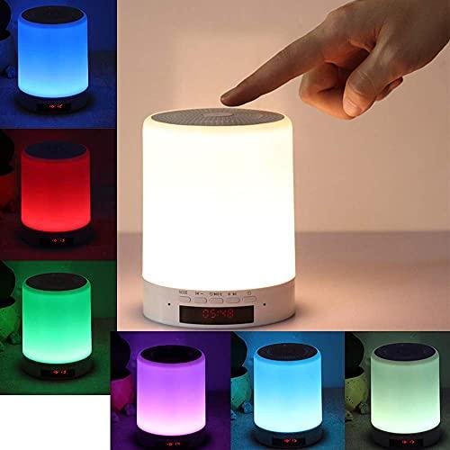 Luz De Noche con Altavoz Inalámbrico Bluetooth, Decoloración Táctil Inteligente, Luz Led, Lámpara De Noche, Los Mejores Regalos para Niña, Niño, Bebé, Utilizado para Fiestas, Dormitorio, Exterior, Ho