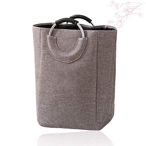 WHY Large Laundry Basket,Foldable Laundry basket Washing Bin with Handle Clothes Large Storage Bin