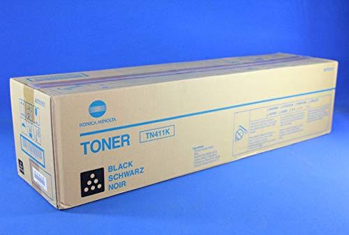 Konica Minolta TN-411K - Cartucho de tóner original para Bizhub C451, C550, C650, color negro