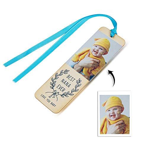 Bosajewel - Segnalibro personalizzato per foto, con incisione personalizzata, segnalibri in legno, per uomini, donne, compleanni, Natale, decorazioni per feste, regalo