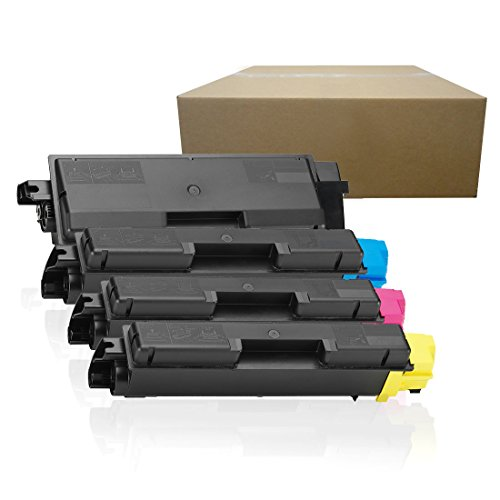 Inktoneram Compatible Toner Cartridges Replacement for Kyocera-Mita TK-592 TK592 C2026MFP FS-C2126MFP FS-C5250DN M6026cidn M6526cdn M6526cidn P6026cdn ([Black, Cyan, Magenta, Yellow], 4-Pack)