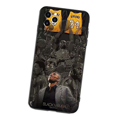 XMYP Kobe - Funda protectora para iPhone 12/12 Pro, 12 Mini, TPU para protección de cuerpo completo, anticaída, ultrafina, diseño de estrella deportiva para niñas, niños y fans A- 12 Mini