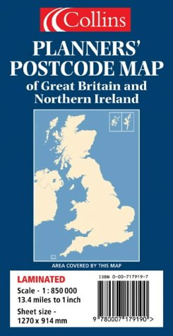 Planners' Postcode Area Map of Great Britain and Northern Ireland