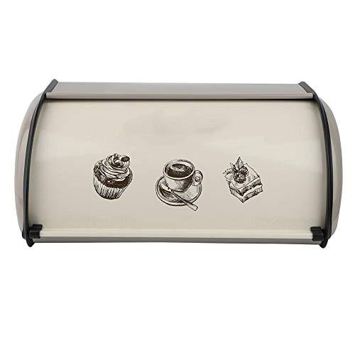 Exquisita y elegante caja enrollable, caja de pan, gran capacidad para el contenedor de cocina de panadería casera
