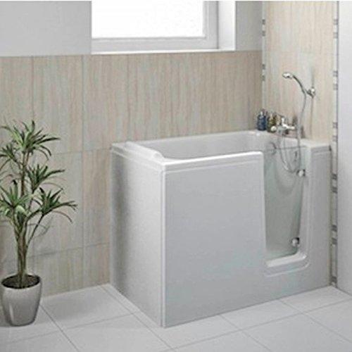 Senioren Badewanne 120x65 cm, Höhe 95 cm (Zirkamaße), Badewanne mit Einstieg R