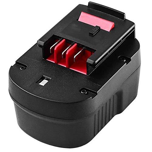 [Upgraded] 3600mAh Replacement for Black and Decker 12v Battery Firestorm HPB12 FS120B FSB12 FS120BX XD1200 Black & Decker 12 Volt Cordless Drill Battery Pack A1712 A12 A12-XJ 1Packs
