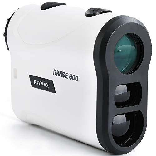 ゴルフ 距離計 660yd対応 PryMAX ゴルフ専用 レーザー 距離計測器 光学6倍望遠 IPX5防水 高低差機能 旗竿ロック 握り心地良い 持ち運び便利 ベルトクリップ付き