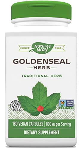 Nature's Way Premium Goldenseal Herb, 800 mg Per Serving, 180 Vegetarian Capsules