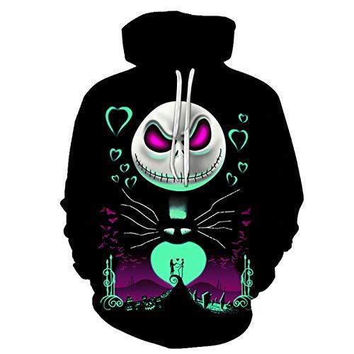Sweatshirt 3D Sweatshirt mit Kapuze Wild-Print Kapuzenpullover für Damen und Herren Herbst Winter Lose Hoodie Gr. S, Lywy14-05.