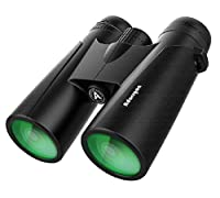 【Powerful 12x42 Binoculars, but Lightweight Enough, Weight only 1.1 pounds】 Equipped with 12x powerful magnification 42mm large objective lens and 367ft/1000yds large field of view. Capable of delivering a clear face from more than 650 feet away. 0.6...