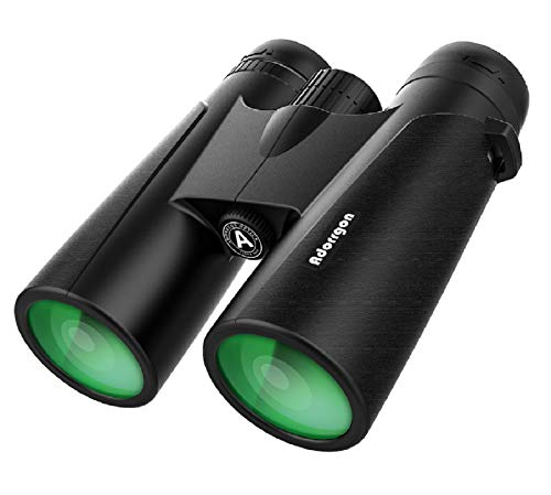 12x42 Powerful Binoculars for Adults with Clear Low Light Vision - Large View Eyepiece Binoculars for Birds Watching Hunting Travel