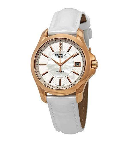 Certina Damen-Armbanduhr XS Analog Quarz Leder C004.210.36.116.00