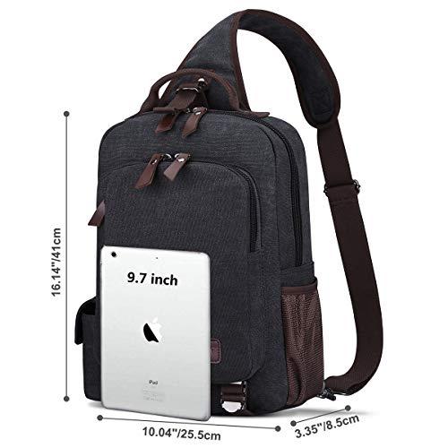 S-ZONE Sling Bag for Men Chest Shoulder Gym Backpack Sack Satchel Outdoor Crossbody Pack