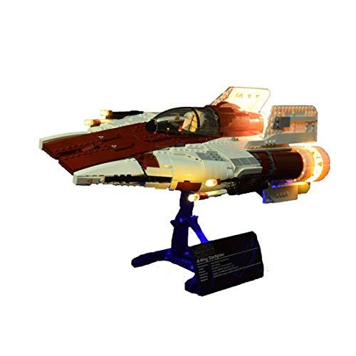 YZHM Kit de iluminación LED de RC Agrega Buena para Lego Star Wars A-Wing Starfighter 75275, 6ch Remote Conrol Actualizado LED Light Set Compatible con Lego 75275 (Ningún Modelo Lego)