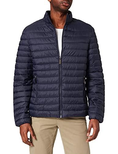 Trussardi Jeans Herren Jacket Matt Light Nylon Kunstlederjacke, Navy Blue, 46