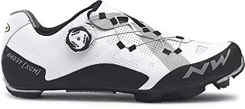 Northwave Ghost XCM Zapatos de Bicicleta Blancos, Tamaño:gr. 44