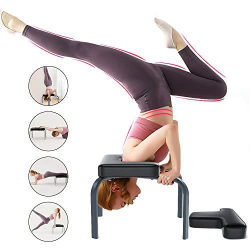 YOLEO Yoga Kopfstandhocker Kopfstandstuhl abnehmbar Hilfe 150kg Tragfähigkeit mit PVC Kissen für Yoga-Übung Gymnastik