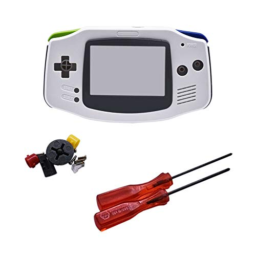 Henghx Reemplazo Lleno Housing Cáscara Cubrir Caso Partes Set w/Lente&Destornillador para Nintendo...
