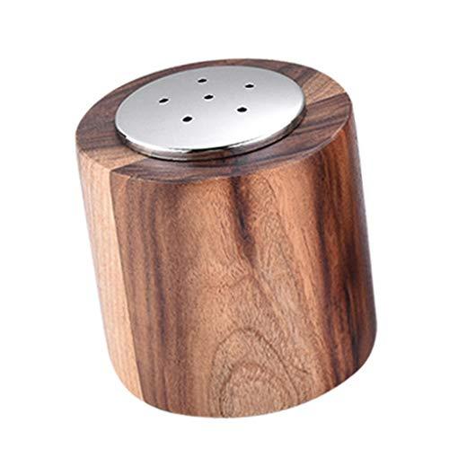 Coddington Sal pimentero de Madera de Acero Inoxidable de Sal Marina Especias dispensador de la Cocina del hogar pote de aderezo