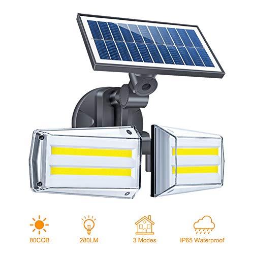 Luz Solar Exterior Foco 80 LED con Sensor de Movimiento 80