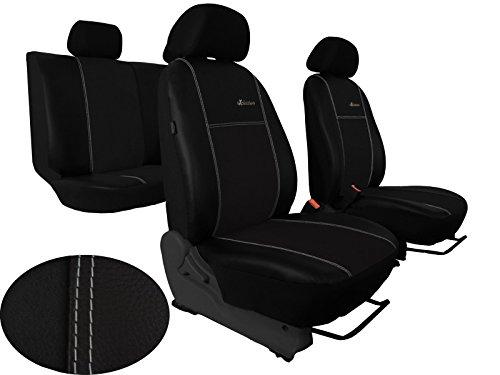 POKTER-ALC Auto Sitzbezüge Passend für A4 (B5,B6) Designe Alkantra Exclusive mit Kunstleder Super Qualität. in Diesem Angebot Schwarz.
