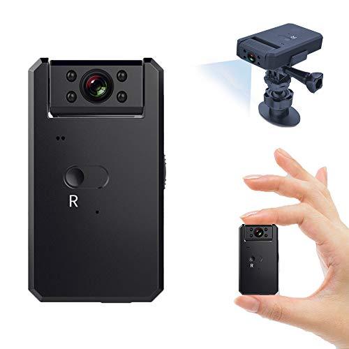 Mini cámara de seguridad inteligente, cámara oculta IP 4K a través de WiFi inalámbrico, no requiere concentrador, audio de 1080p, detección de movimiento con visión nocturna en interiores y exteriores