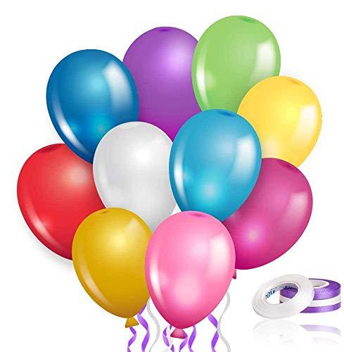 Sinwind Luftballons Bunt, 100 Stück Bunte Luftballons Hochzeit Luftballons Helium Luftballons Latex Luftballons für Kinder Geburtstag Party Hochzeits