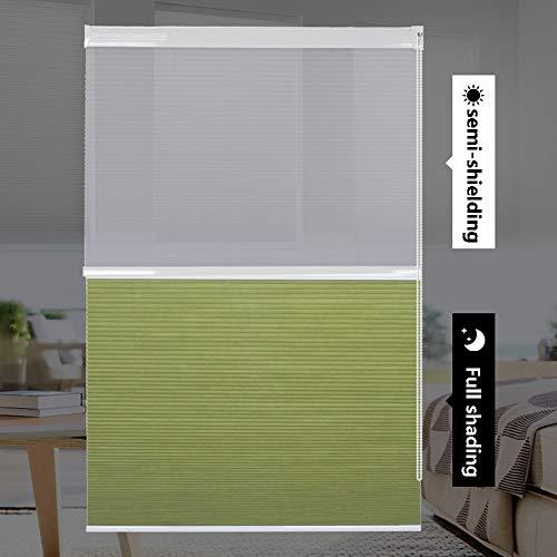 YUDEYU Persianas Día Y Noche Instalación Perforada Tela Impermeable Sombrilla Cortina Protección Solar (Color : Light Green, Size : 150x180cm)
