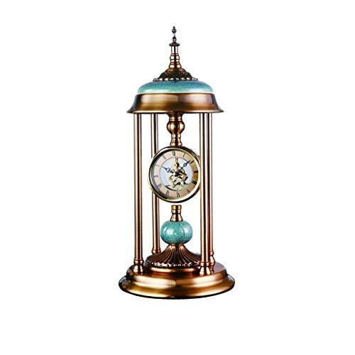 Reloj de mesa Reloj de mesa / dormitorio, cuarto de estudio, elegante y generoso, Sala tabla creativa del reloj / reloj de la chimenea 18.1 pulgadas, metal, cerámica Reloj de decoración de interiors