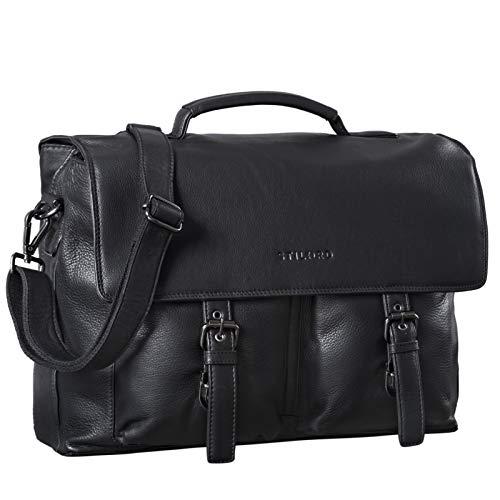 STILORD 'Jeff' Briefcase Leather 15 Inch Vintage Business Bag for Men Laptop Bag Big...