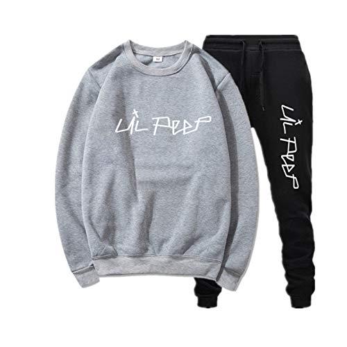 2 Piezas Lil Peep Top Hip Hop Sport Pullover Sudaderas Lil + Peep + Merch + Damen Sudadera Extragrande Kid XL