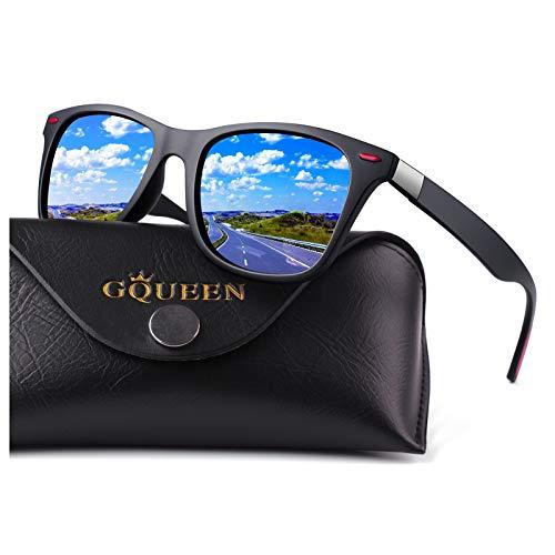 GQUEEN Gafas de Sol polarizadas hombre Mujere TR90 para...