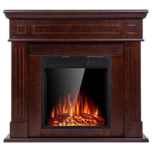 wood fireplace electric - 6