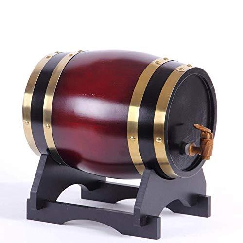 Eiken vat, 3L/5L/10L/20L Eiken opslagvat Ingebouwde aluminiumfolie liner voor het opslaan van uw eigen whisky, bier, wijn, Bourbon, cognac, hete saus meer 10L D