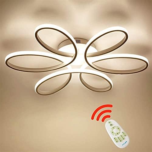 Ksovv Lámpara de luz de Techo con atenuación LED de 54W con Control Remoto Lámpara de Techo de acrílico con Forma de bobinado Luz de Dormitorio Sala de Estar Dormitorio Principal Lámpara de Techo