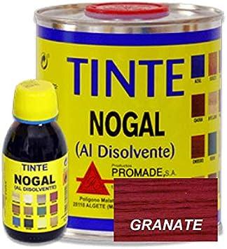 Promade - Tinte al disolvente para teñir la madera. Tonos de madera y colores vivos y modernos (375 ml, Caoba)