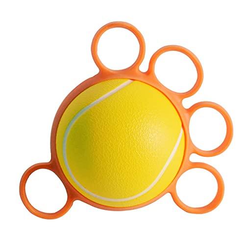 SHDT Portátil Cinco Dedos Terapia Terapia Grip Ball, Mano Ejercitora, Pelota De Compresión para La Mano De Finger Fuerza Ejercicio Estrés Alivio,25 pounds
