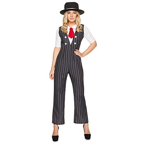 Karnival 81227 1920 Gangster - Disfraz para mujer, talla S, color negro