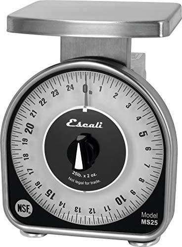 San Jamar SCMDL25 Mechnical Dial Food/Kitchen Scale, 25 lb Capacity