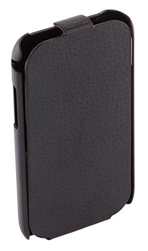 Samsung Lederschutzhülle im Flip-Style für Samsung Galaxy Ace Plus von Anymode - Schwarz