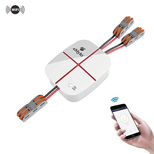 eMylo Smart WiFi 2 canali Telecomando Wireless Interruttore Luce Modulo 5-24V Elettrodomestico Timer Wireless Compatibile con Alexa Google Home Via Android/IOS