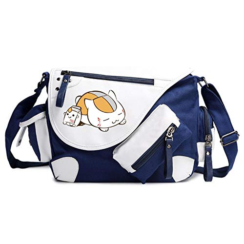 JJZZ Anime Cosplay Natsume Friends Account Student School Bag Shoulder Bag Canvas Messenger Bag Travel Bag 2